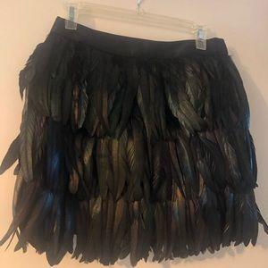 Express Feather Skirt